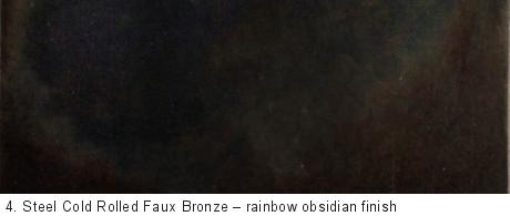 Steel Cold Rolled Faux Bronze Delform Studios