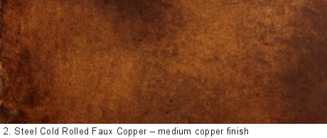 Steel Cold Rolled Faux Copper Delform Studios
