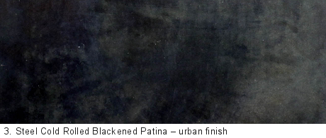 Steel Cold Rolled Blackened Patina Delform Studios